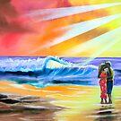 ROMANTIC BEACH SUNSET by gordonbruce