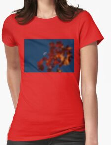 Focused on the Autumn Moon Womens Fitted T-Shirt
