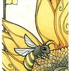 Art Deco Bee by Kiri Moth