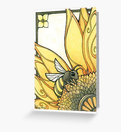 Art Deco Bee Greeting Card