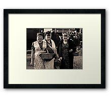 Rosies at War Weekend Pickering Yorkshire Framed Print