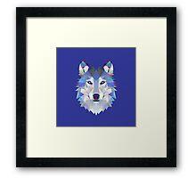 Geometric Wolf Framed Print
