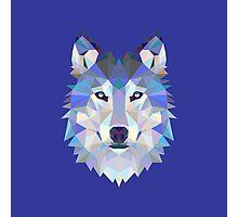 Geometric Wolf Photographic Print
