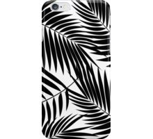 Kona Palms Hawaiian Leaf - White & Black iPhone Case/Skin