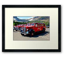 Glacier Park Bus Framed Print