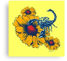 Scorpion Flowers Canvas Print