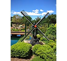 Miniature Windmill Photographic Print