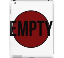Empty (Red) iPad Case/Skin