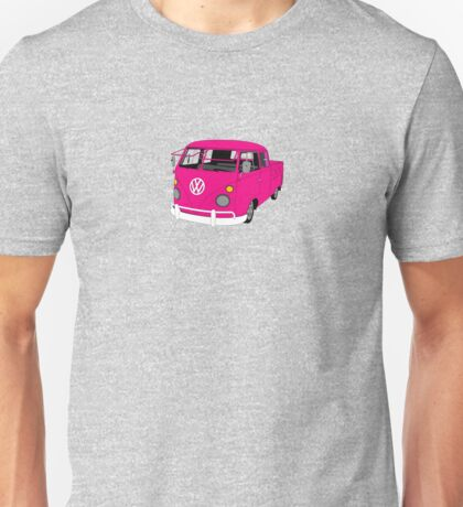 Pink Split Screen VW Kombi Pick up Unisex T-Shirt