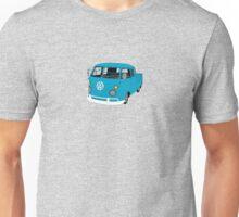 Blue Split Screen VW Kombi Pick up Unisex T-Shirt