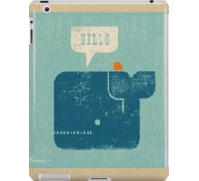 Square Whale Says Hello to Bird iPad Case/Skin