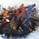 Ice Fishing Campfire, by MaeBelle