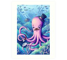 A Fancy Octopus Dilemma Art Print