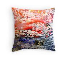 Kerubs in red clouds Throw Pillow