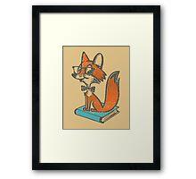 Fox Librarian Framed Print
