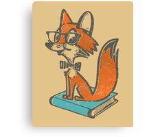 Fox Librarian Canvas Print