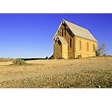 Historic church landscape - Silverton NSW Photographic Print