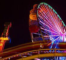 Streaking Rollercoaster, Santa Monica Pier by Stephen Burke