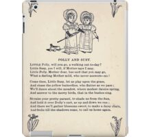 Miniature Under the Window Pictures & Rhymes for Children Kate Greenaway 1880 0033 Polly and Susy iPad Case/Skin
