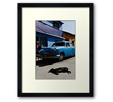 Mad dogs & Englishmen go out in the mid-day sun! Framed Print