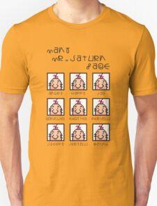 Many Saturn Face Unisex T-Shirt