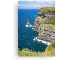 Cliffs of Moher at O'Brien's Tower Canvas Print