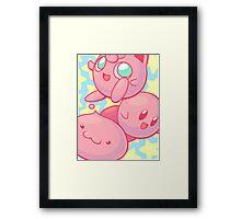 Pink Puff Trio Framed Print