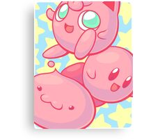 Pink Puff Trio Canvas Print