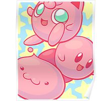 Pink Puff Trio Poster