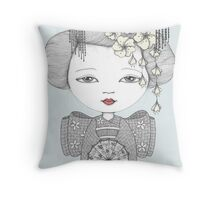 Little Blossom Girl Throw Pillow