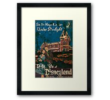 Distressed Date Night at Disneyland poster Framed Print