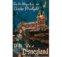 Distressed Date Night at Disneyland poster Photographic Print
