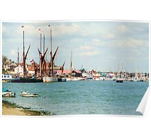 Busy Maldon by the sea, Essex Poster