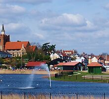 Promenade & Lake in the Spring Sun, Maldon, Essex by MichelleRees