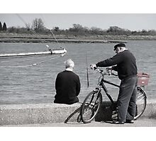 Friends Chatting by the sea Photographic Print