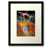 Alien Queen of Dragons Framed Print