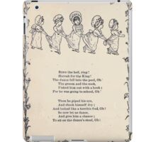 Miniature Under the Window Pictures & Rhymes for Children Kate Greenaway 1880 0012 The Two Boys iPad Case/Skin