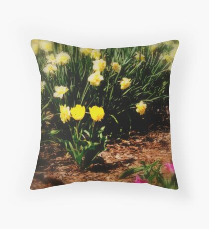 Softly spring comes Throw Pillow
