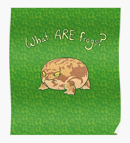 What ARE Frogs? (Desert Rain edition) Poster