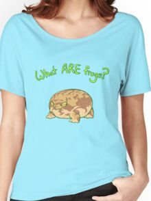 What ARE Frogs? (Desert Rain edition) Women's Relaxed Fit T-Shirt