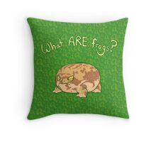 What ARE Frogs? (Desert Rain edition) Throw Pillow