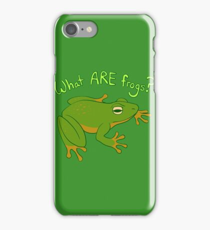 What ARE Frogs? (Basic edition) iPhone Case/Skin
