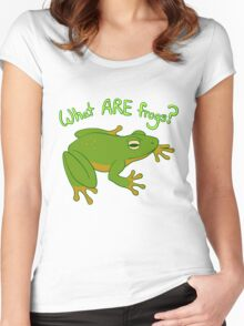 What ARE Frogs? (Basic edition) Women's Fitted Scoop T-Shirt