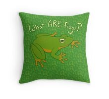 What ARE Frogs? (Basic edition) Throw Pillow