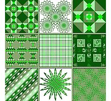 Green, green, it's green they say - Quasi-Quilt Photographic Print