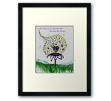 The Reality of Extinction: The last flower... Framed Print