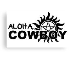 Aloha, Cowboy--SPN Season 10 Gag Reel Canvas Print