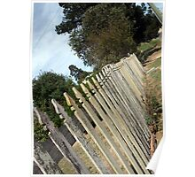 White Picket Fence- Hill End Poster
