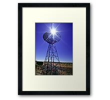 Windmill - an outback icon Framed Print
