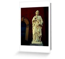Church Statue Greeting Card